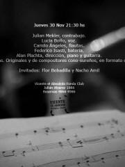 Alan Plachta en Vicente el Absurdo. 30 de noviembre